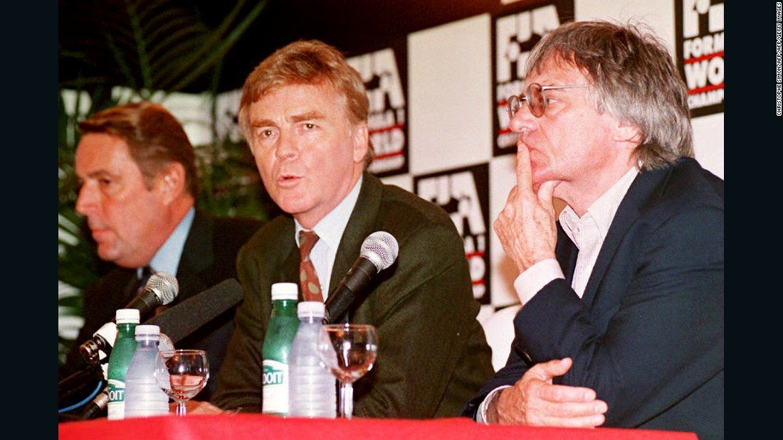 Along with Max Mosley (center), Ecclestone took control of F1 and made it a global entity.