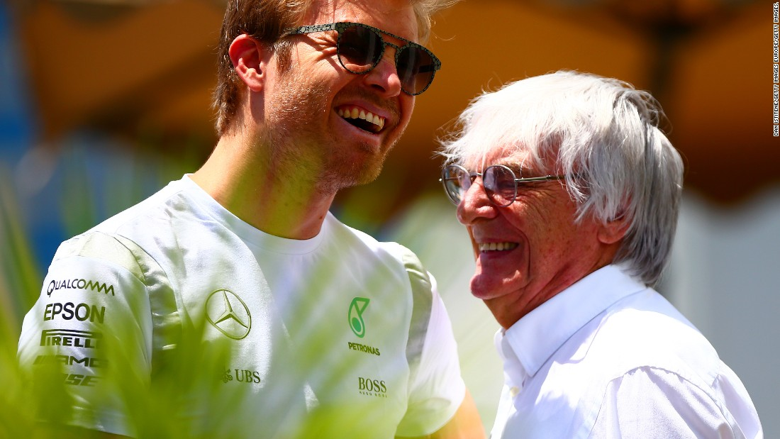 Ecclestone enjoyed a good relationship with the majority of drivers on the grid, among them 2016 F1 champion Nico Rosberg.
