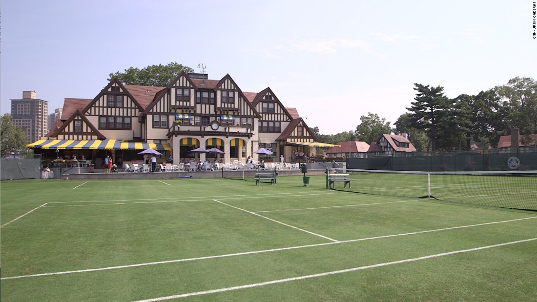 "The clubhouse remains in excellent condition along with the smaller surrounding grass courts (pictured), and retains some of the ""tea party"" atmosphere from its halcyon days."