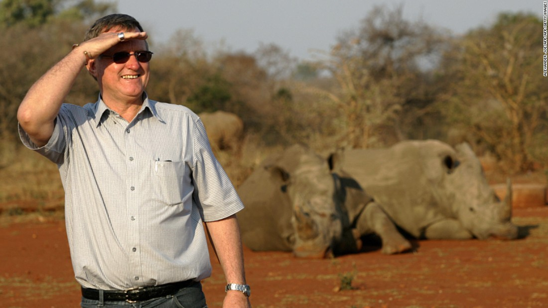Zimbabwe-born Hume, pictured here in a 2004 file photo, has previously stood behind the South African government in its attempt to acquire 10 hunting licenses for adult bulls.