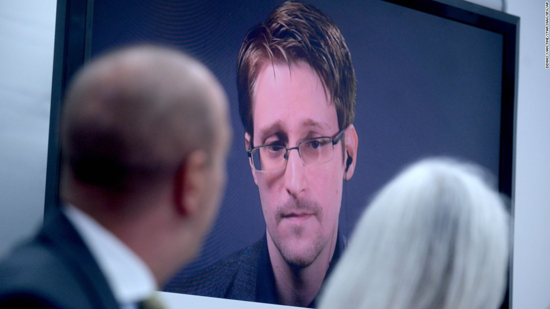 "Edward Snowden speaks via video on Wednesday, September 14. at the launch of a campaign in Moscow <a href=""http://money.cnn.com/2016/09/13/technology/edward-snowden-pardon-obama/"" target=""_blank"">calling on US President Barack Obama to pardon him</a>. In June 2013, the world-famous whistle-blower leaked thousands of highly classified National Security Agency documents to the public."