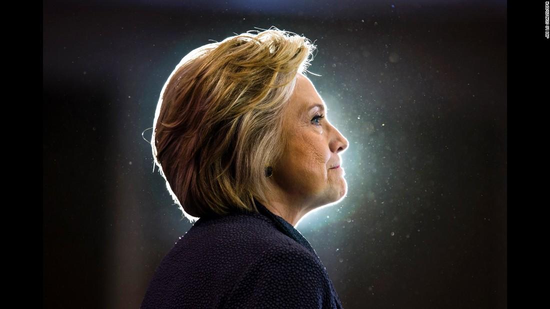 "Hillary Clinton <a href=""http://www.cnn.com/2016/09/16/politics/hillary-clinton-obama-birther-pneumonia/index.html"" target=""_blank"">speaks at the Black Women's Agenda forum</a> in Washington on Friday, September 16."