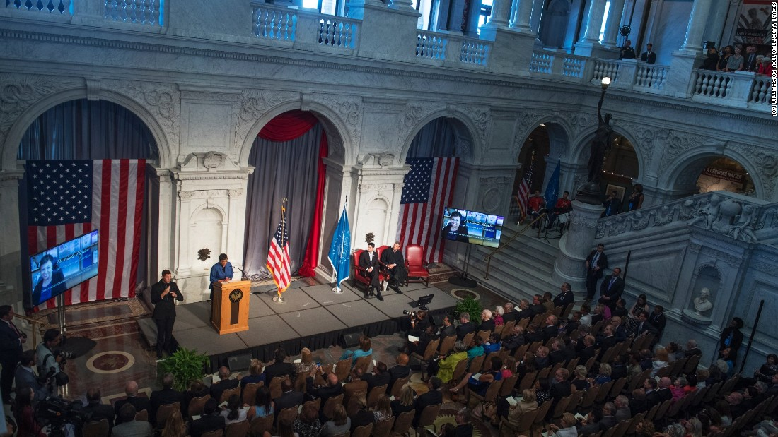 "Librarian of Congress Carla Hayden speaks during her swearing-in ceremony in Washington on Wednesday, September 14. Hayden is the <a href=""http://www.cnn.com/2016/09/14/politics/librarian-of-congress-carla-hayden-sworn-in/"" target=""_blank"">first African-American and first woman</a> to hold the position."