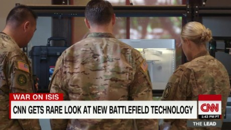 CNN gets rare look at new military technology in ISIS fight