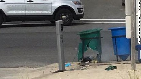 The explosion went off in a garbage can.