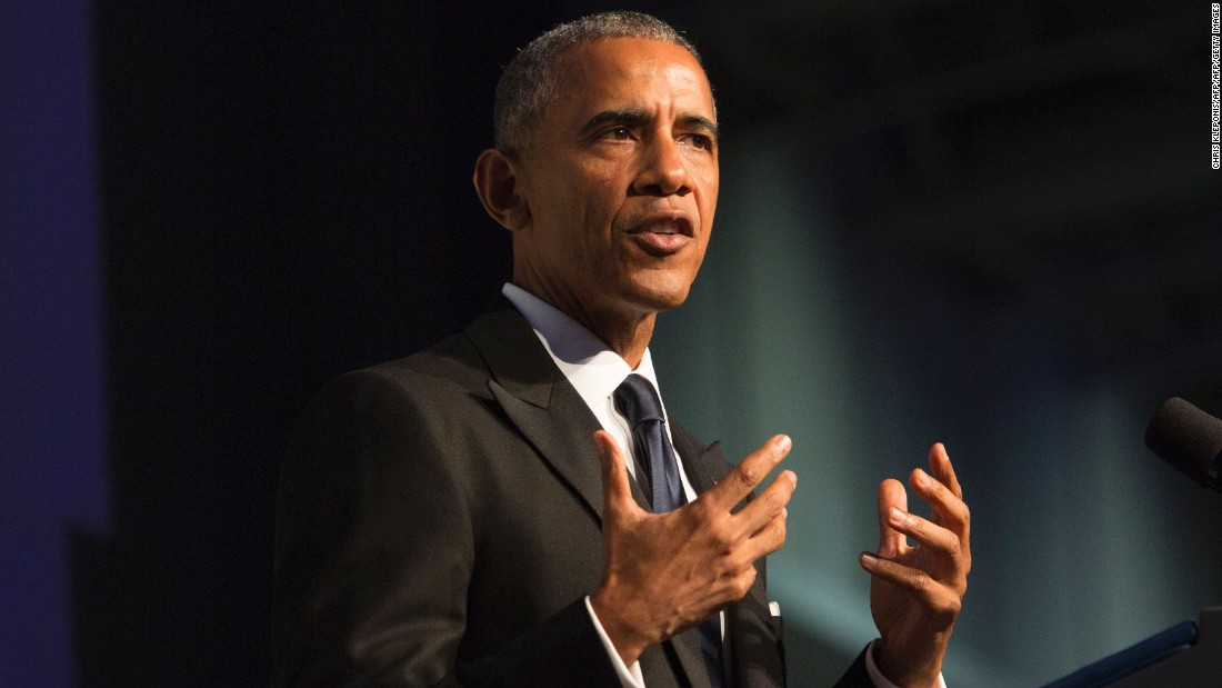 """President Barack Obama speaks during the Congressional Black Caucus Foundation's Phoenix Awards Dinner on September 17,  in Washington. Obama <a href=""""http://www.cnn.com/2016/09/17/politics/obama-black-congressional-caucus/index.html"""" target=""""_blank"""">delivered an impassioned plea </a>to the African-American community to help stop Donald Trump, saying he would consider it a """"personal insult"""" to his legacy if black voters didn't turn out for Hillary Clinton."""