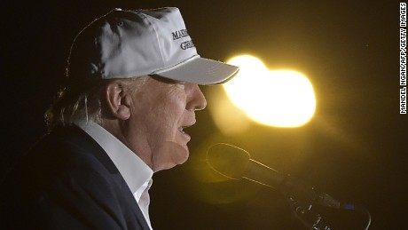 Donald Trump speaks during a rally at the JetCenters of Colorado in Colorado Springs, Colorado on September 17, 2016.