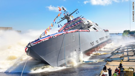 US Navy launches new warship