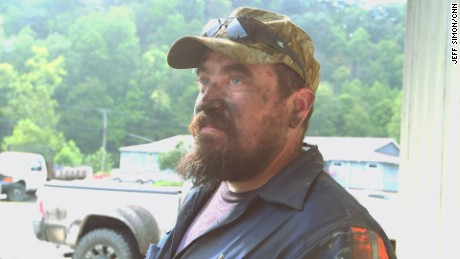 Miner Ryan Barnette, 34, works in Gary, West Virginia.