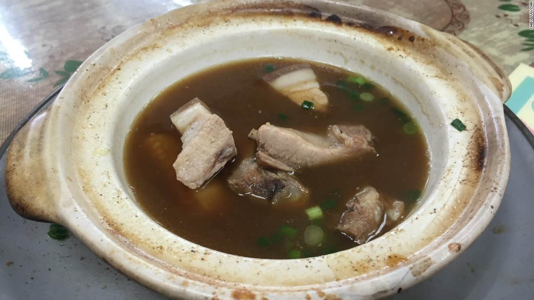 Popular among locals and celebrities, the 45-year-old Sun Fong eatery specializes in bah kut teh, a slow-cooked pork bone soup.