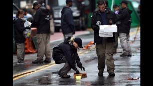 FBI evidence response team at the the scene of the September 19, 2016 bombing in the Chelsea section of Manhattan.