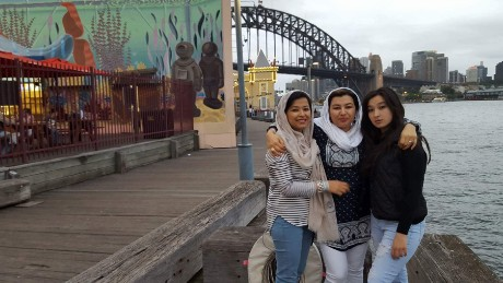 Najeeba with her sisters.