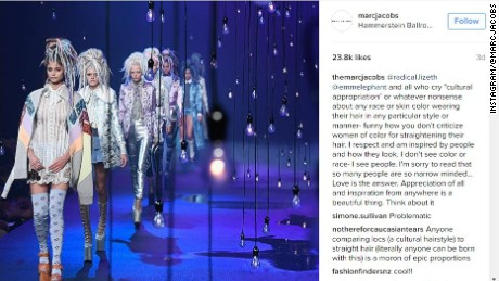 Designer Marc Jacobs (@themarcjacobs) replies to critics on the Marc Jacobs brand Instagram page