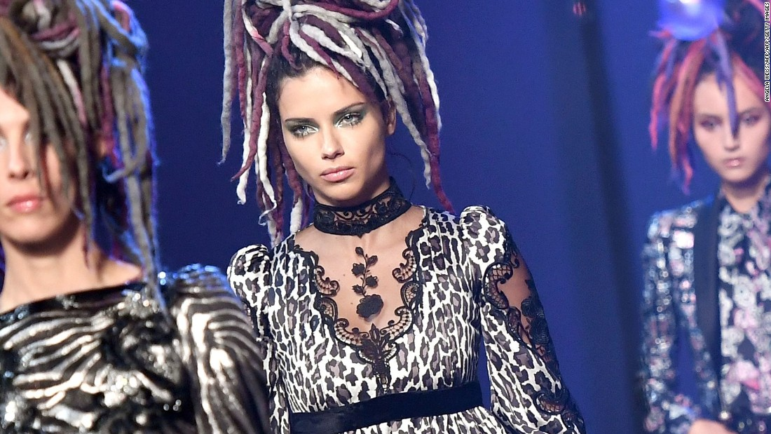 At his Spring-Summer 2017 show, he sent models down the runway with dreadlocks.