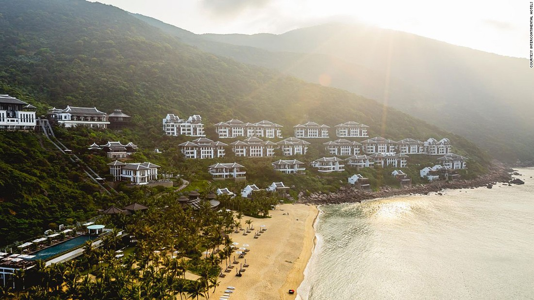 Everything in the InterContinental Danang Sun Peninsula Resort begs to be photographed -- from the restaurant in a suspended cone over the mountain to the adults-only infinity pool overlooking the resort and Son Tra Peninsula.