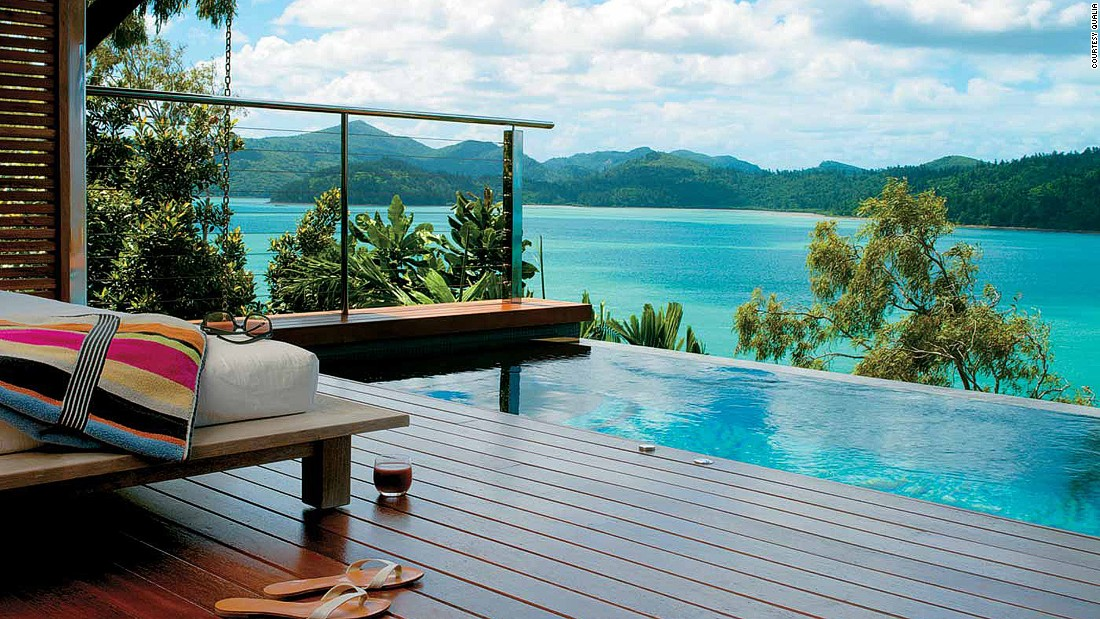 Australia's 60-villa Qualia is an escapist's dream resort. It stands at the secluded northernmost tip of Hamilton Island with spectacular views over the Whitsunday Islands.