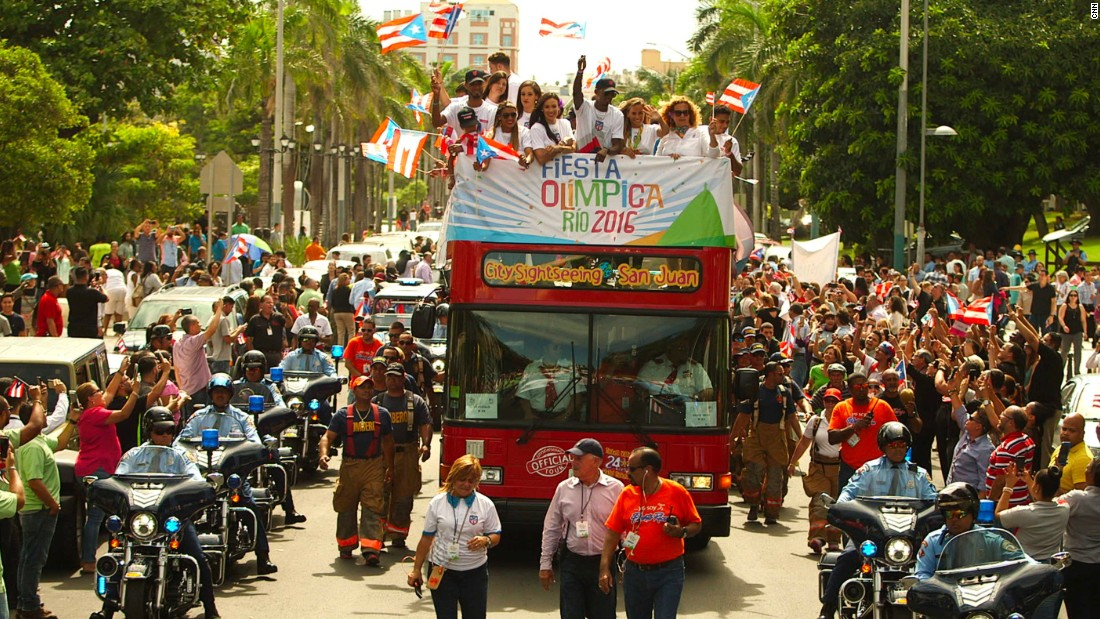 Puerto Rico's Olympic team -- which won just one medal in Rio -- was welcomed back home after the August 5-21 Games.