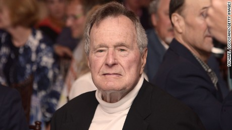 "Film Subject President George H.W. Bush celebrates his 88th  birthday following the HBO Documentary special screening of ""41"" in 2012 in Kennebunkport, Maine."
