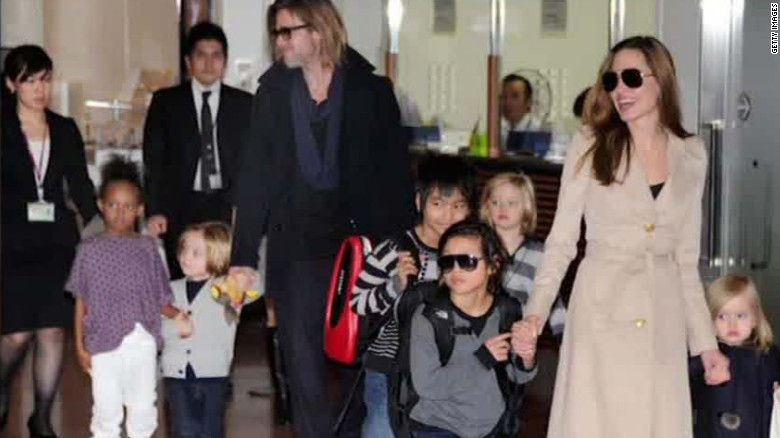 Pitt and Jolie's custody details