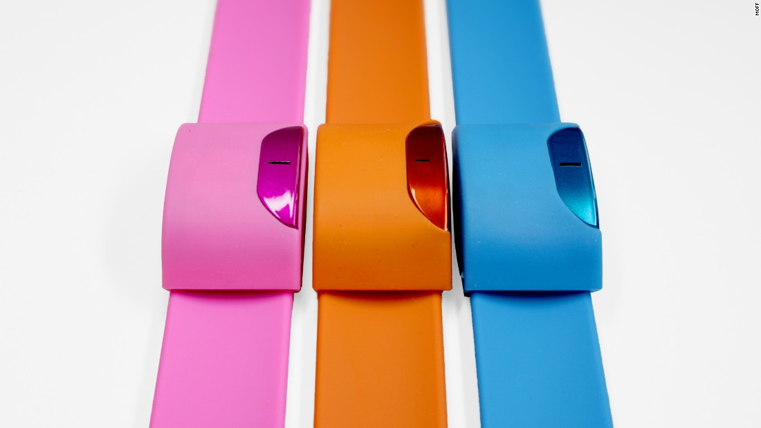 The Moff bracelet for kids combines activity tracking and gaming. Costing $54,99, the colorful device uses a gyroscope, acceleration sensor and Bluetooth to recognize motion and encourage kids to get up and move. The wristband works with several apps that engage children.