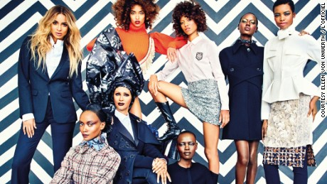"L'Officiel's ""Gang of Africa"" issue featuring Iman, Ajak Deng, Ciara, and Solange."