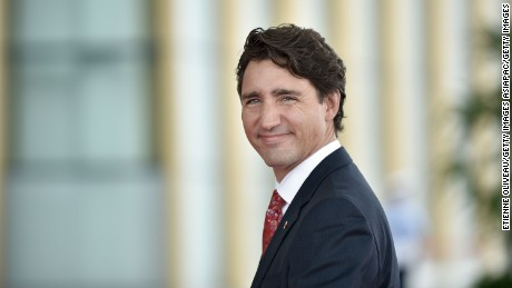 HANGZHOU, CHINA - SEPTEMBER 04:  Prime Minister Justin Trudeau of Canada arrives at the Hangzhou Exhibition Center to participate in G20 Summit, on  September 4, 2016 in Hangzhou, China.  (Photo by Etienne Oliveau/Pool/Getty Images)