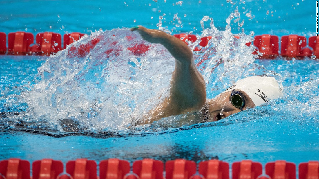 Mexico's Vianney Trejo Delgadillo competes in the 200-meter individual medley.