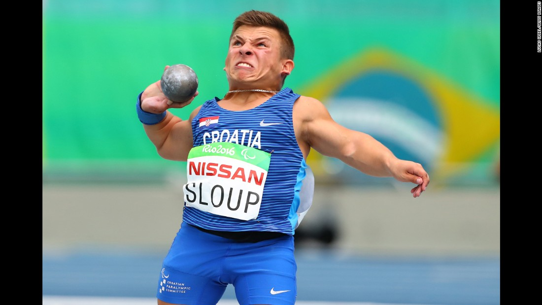 Croatia's Matija Sloup competes in the same event at the Paralympics.
