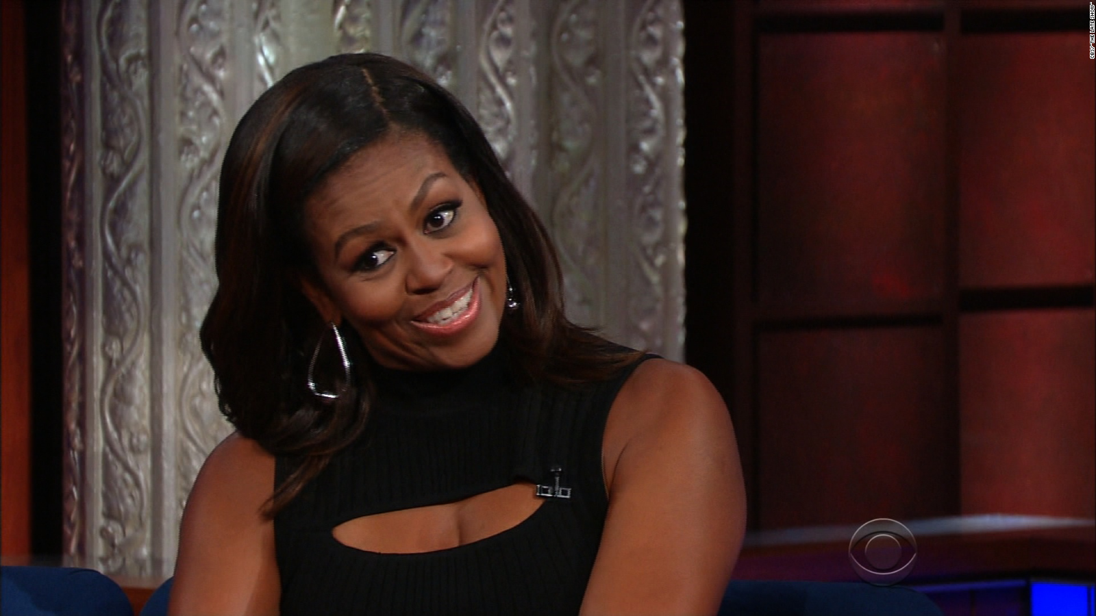 Michelle Obama Impersonates The President   CNN Video
