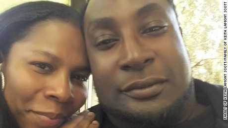 Keith Lamont Scott and his wife.