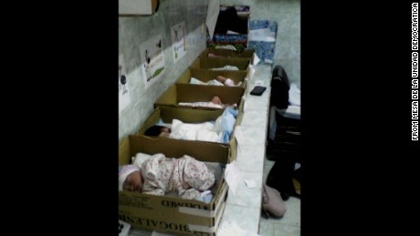 In Venezuelan hospital, newborns in cardboard boxes