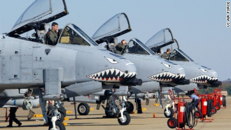 The USAF 23rd Fighter Group based at Moody Air Force Base, Ga. includes A-10 Thunderbolt II attack jets decorated with nose art reminiscent of the Flying Tigers.