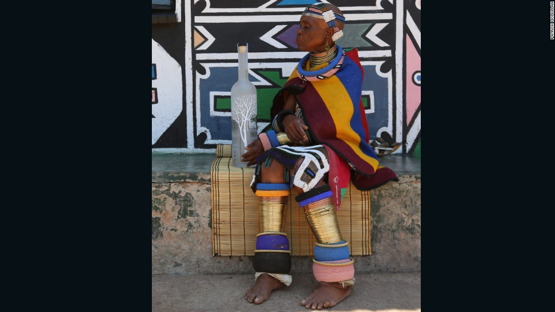 "In a statement about her latest collaboration she said ""My art has taken me all over the world and I have seen many places, I have painted many walls and objects and my work is in many museums but I am still Esther Mahlangu from Mpumalanga in South Africa."" Her works are now being featured at a major new exhibition at London's British Museum."