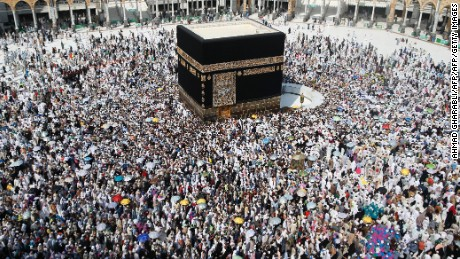 Muslim pilgrims from all around the world circle around the Kaaba at the Grand Mosque, in the Saudi city of Mecca on September 14, 2016.  More than 1.8 million faithful from around the world have been attending the annual pilgrimage which officially ends on September 15. / AFP / AHMAD GHARABLI        (Photo credit should read AHMAD GHARABLI/AFP/Getty Images)