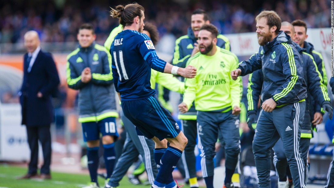 Gareth Bale was the man of the moment less than a month later, striking late to give Real Madrid a vital win against Real Sociedad on April 30.