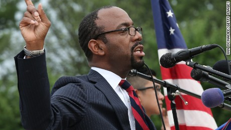 NAACP President and CEO Cornell William Brooks speaks during a press conference at the Lincoln Memorial June 15, 2015 in Washington, DC.