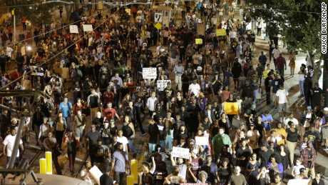 Protests over Charlotte police shooting