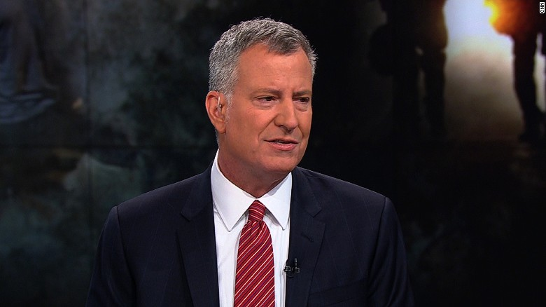De Blasio: Trump is wrong on 'stop-and-frisk'