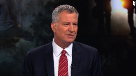 Bill de Blasio: Trump is wrong on stop-and-frisk