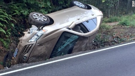 the driver wasnt seriously injured after a spider caused her to lose