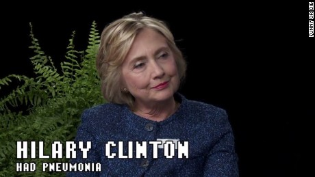 Hillary Clinton appears as a guest on Between Two Ferns with Zach Galifianakis, a web show on Funny or Die, on September 22, 2016.