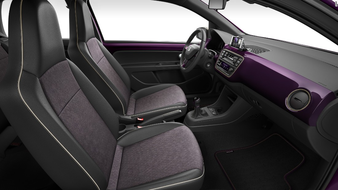 The SEAT Mii is available on pre-order in two colours, a deep purple Violetto or Candy White.