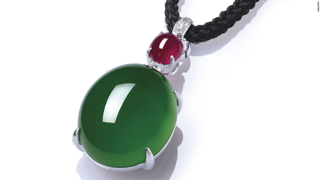 As jade prices have risen, simple designs -- like this jadeite, ruby and diamond cabochon that sold for more than $5.5 million at a Christie's Hong Kong auction in 2015 -- are being favored by Asian buyers.