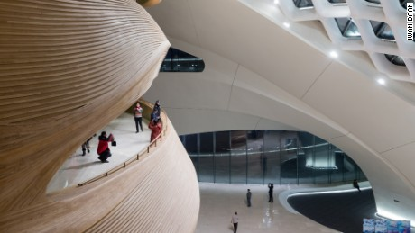 Timber interiors and interactive public spaces are signatures of the Harbin Opera House.