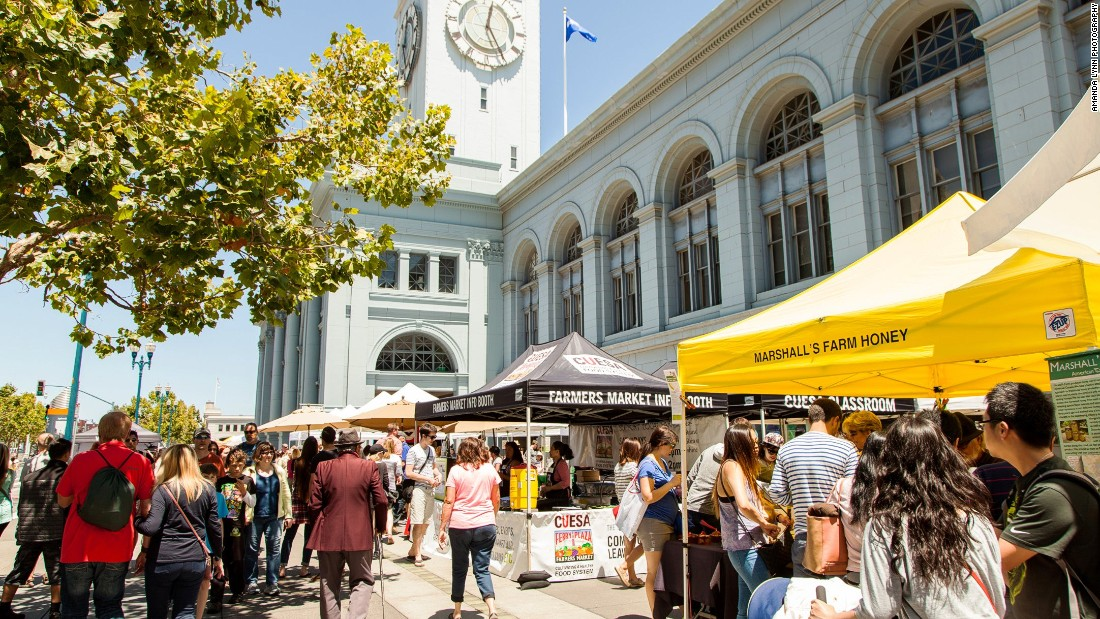 San Francisco's 660-foot-long, clock-towered building at the foot of Market Street is downtown's culinary nerve center, filled with sky lit shops and eateries.