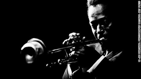 Miles Davis at Monterey Jazz Festival 1964.