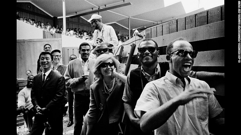 The crowd at the Monterey Jazz Festival in 1963.