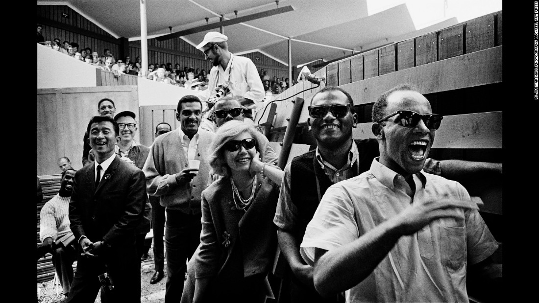The crowd at the Monterey Jazz Festival in 1963. Marshall captured those final summers when jazz was still widely popular.