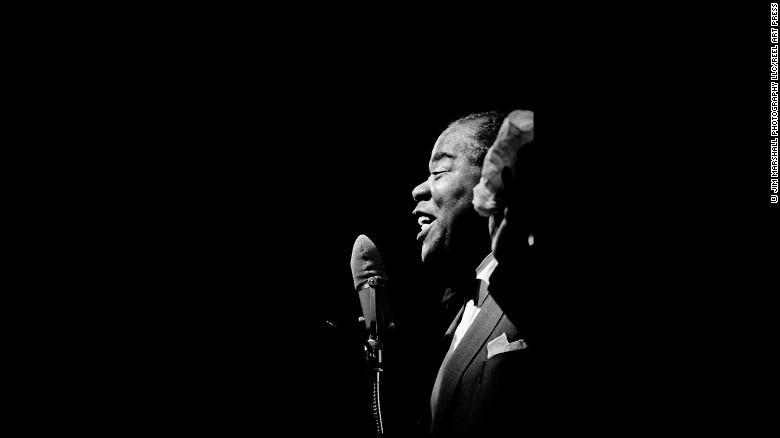 Louis Armstrong performs at Monterey in 1965.