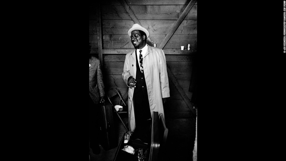 Thelonious Monk at Monterey in 1964.
